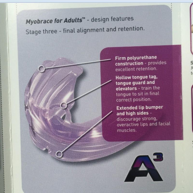 Трейнер Myobrace for Adults A3 (Миобрейс для Взрослых А3)