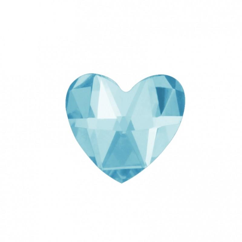 Скайс (страза) на зубы Сердце голубой лед ( DJ 71 )