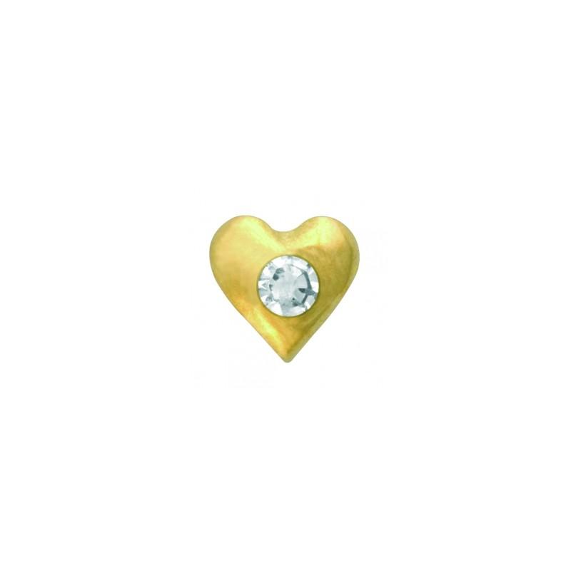 Скайс (страза) на зубы Сердце с бриллиантом ( TW 21 )
