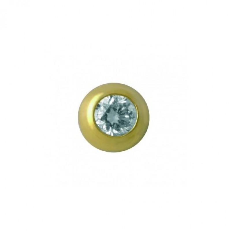 Большой бриллиант в круглой оправе ( TW 33 )