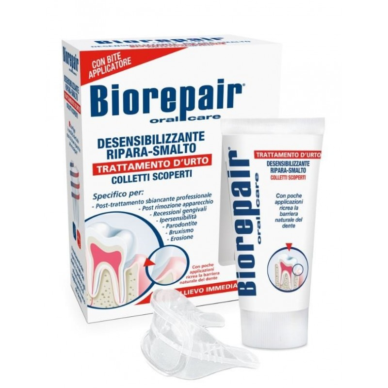 Биорипеир Десенситайзинг (BioRepair) гель для восстановления эмали и уменьшения чувствительности. Комплект 50мл + капы
