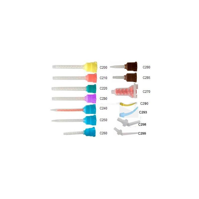 Канюли - насадки, синие с прозрачным смешивателем, 1:1, 77 мм, 10 шт. №C250