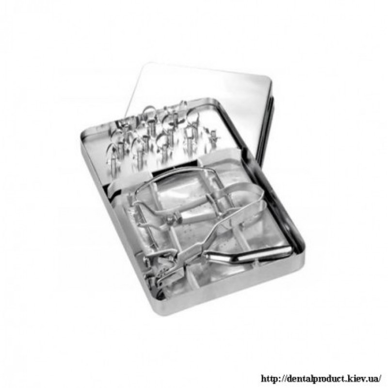 Раббердам набор с 12 металлическими кламерами DR.900.002