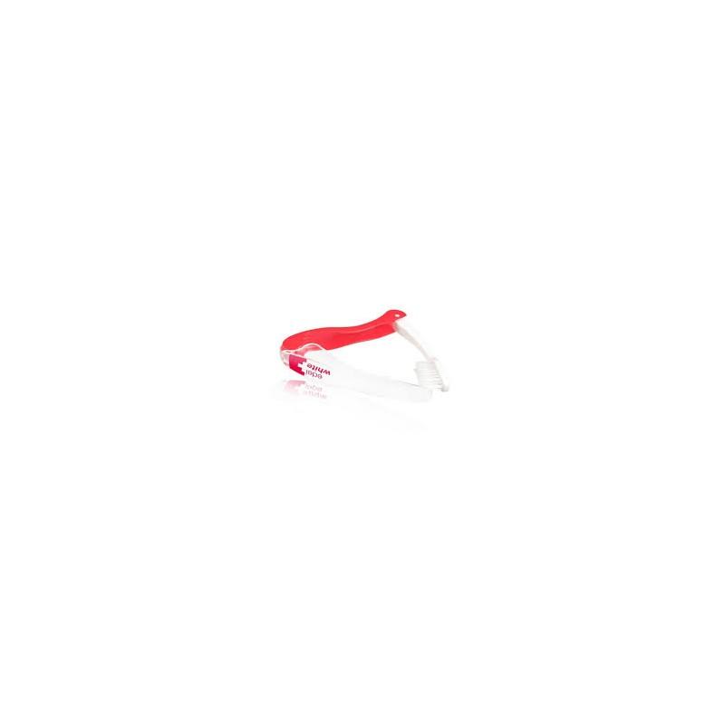Дорожняя мягка зубная щетка флосс Edel+White